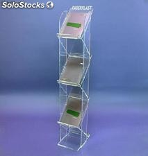 Fique Brochura escadas Holder - plexiglass transparente