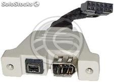 FireWire adapter board 400 for 4-pin and 6 pin female (FW92)