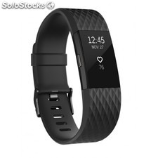 Fitbit - Charge 2 Wristband activity tracker OLED Inalámbrico Antracita, Negro -
