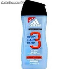 Flacon 250ML gel douche muscle massage adidas