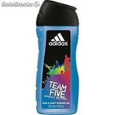 Flacon 250ML gel douche team five adidas