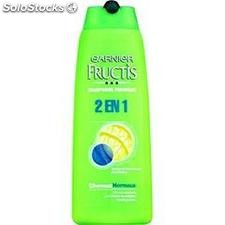 Flacon 250ML shampoing 2EN1 cheveux normaux fructis