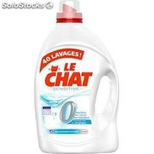 Flacon 3L lessive liquide sensitive zero le chat