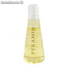 "Flacon shampooing ""pyramid"" - 30 ml 8,5 cm transparent plastique"