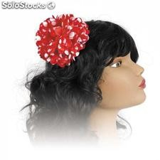 Flamenco dancer head flower