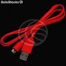 Flat Cable usb 2.0 a male to male 1m MicroUSB red (UR22)