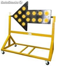 Flecha luminosa de trafico con led