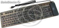 Flexible Keyboard 109 USB et PS2 touches noires (KF01)