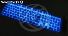Flexible Keyboard USB and PS2 109 key backlit and black (KF21)