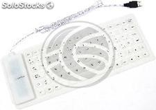 Flexible USB and PS2 Keyboard 85 keys and white (KF12)