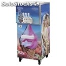 Floor-standing soft serve ice cream machine - mod. geso kl202p - capacity lt 2x