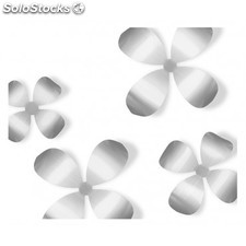FLORES 3D METALICAS para decoración de pared. Wallflower wall decor - Color -