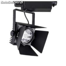Foco carril cinema cree led negro 35w blanco cálido
