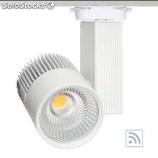 Foco carril cronolux rail led blanco 30W, rf, Regulable, Blanco cálido,