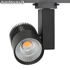 Foco carril cronolux rail led negro 35W, Blanco cálido