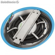 Foco de piscina de leds montaje superficie 230mm 12w multicolor con mando RGB
