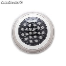 Foco de piscina de leds montaje superficie 300mm 24w multicolor con mando RGB