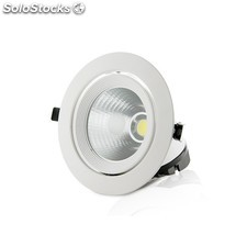 Foco Downlight de LEDs cob Circular Orientable 30W 2400Lm 30.000H Blanco Natural