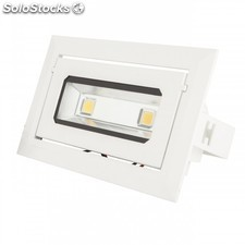 Foco Downlight de LEDs Rectangular Basculante cob 20W 1800Lm 30.000H Blanco