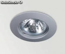 Foco downlight fijo 50 w color cromo Mate ( aro + dicroica + transformador)