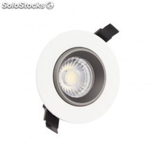 Foco downlight led cob direccionable 360º circular 12w design