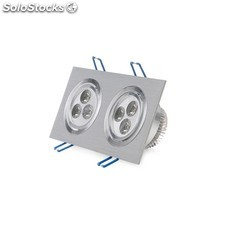 Foco downlight led rectangular 6w 600lm blanco neutro