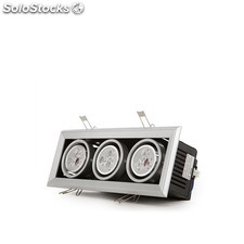 Foco downlight led rectangular 9w 900lm blanco neutro
