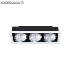Foco empotrable CARDAN de LED 3x20W 4000 ºK, no regulable