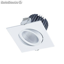 Foco empotrable cuadrado blanco Nix LED 8W 3000K 680Lm IP30