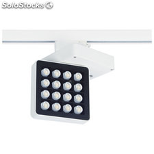 Foco LED carril escaparates negro Indus 30W 3000K 3000Lm