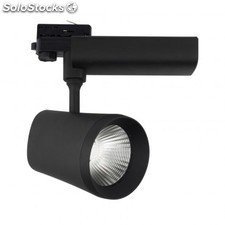 Foco led citizen d'angelo 40w negro para carril trifásico