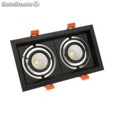 Foco led cree-cob direccionable madison 2x10w negro