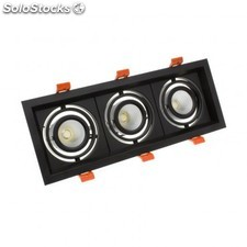 Foco led cree-cob direccionable madison 3x10w negro