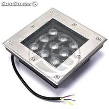 Foco LED de suelo 9W 160x160mm verde (NF54)