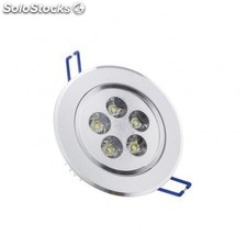 Foco led downlight circular direccionable 5x1w