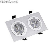 Foco LED Downlight Rectangular 2x3x1W