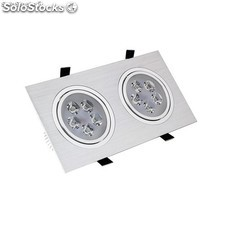 Foco LED Downlight Rectangular 2x5x1W
