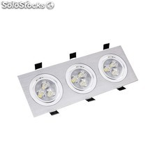 Foco LED Downlight Rectangular 3x3x1W