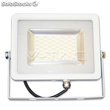 Foco LED Slim de 30W 4500K Blanco Natural SMD Cuerpo Color Blanco Apto para