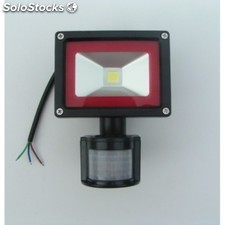 Foco Proyector Led 10w con sensor de movimiento, IP65 impermeable,