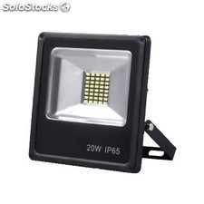 Foco proyector LED 20W 4000K regulable negro