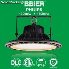 focos led highbay industrial UFO philips 80w 120lm-150lm/w