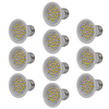 Focos LED, set de 10 bombillas, color blanco 3W E27 blanco cálido