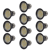 Focos LED, set de 10 bombillas, color negro 3W E27 blanco cálido