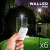 Focos led WalLED Mini con Mando (pack de 6)
