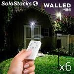 ✅ focos led walled mini con mando (pack de 6)