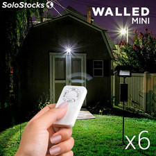 Focos LED WalLED Mini con Mando pack de 6, para uso exclusivo en interiores