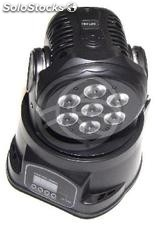 Focus 7 led moving head 12W rgb DMX512 black (XB32)