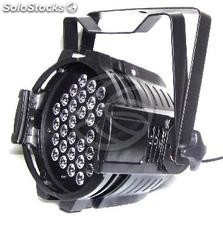 Focus led PAR64 1W of 36 black (XG03)