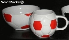 Football bowls and mugs - brand new stock